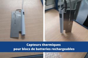 capteur blocs batterie rechargeables